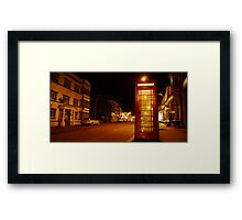 Night Phone Box Framed Print