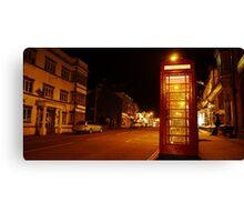 Night Phone Box Canvas Print