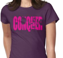 CONQUER (Strong Girl Squat) Womens Fitted T-Shirt