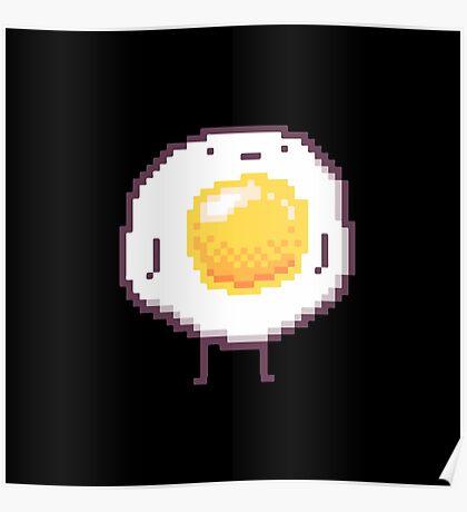 Standing Egg Pixel  Poster