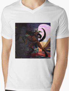 Neko hunter warrior Mens V-Neck T-Shirt