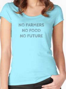 NO FARMERS NO FOOD NO FUTURE Women's Fitted Scoop T-Shirt