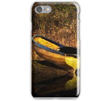 Yellow Rowing Boat iPhone Case/Skin
