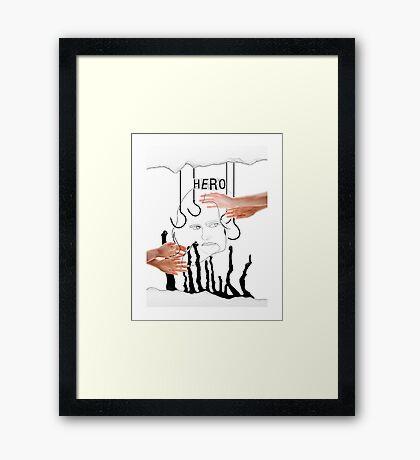 Jessica Jones, Hero Framed Print