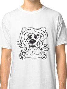 girls, women, female long hair nice pretty sitting Teddy comic cartoon sweet cute Classic T-Shirt