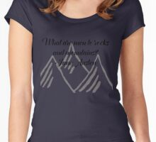 What Are Men To Rocks And Mountains Women's Fitted Scoop T-Shirt