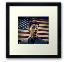 nick jonas american tour Framed Print