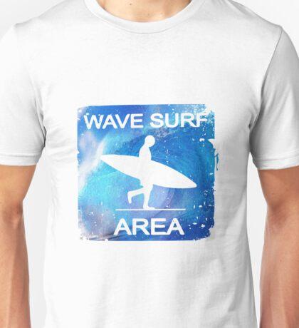 Wave Surf Area Unisex T-Shirt