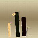 Log Flowers by mindprintz