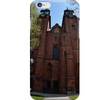 Gniezno Cathedral in Poland in Fisheye iPhone Case/Skin