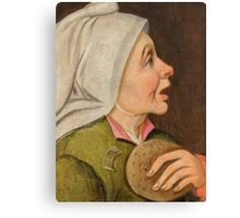 CLEVE, MARTEN VAN () Depiction of a peasant woman,  an allegory of the month of February Canvas Print