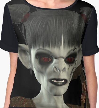 Darkness Comes Miss Piggy Chiffon Top