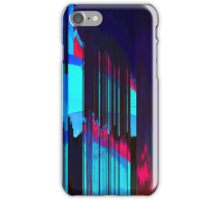 Retro Wave Data Flow - Glitch Art Print iPhone Case/Skin