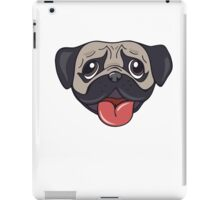 Cartoon pug dog head print iPad Case/Skin