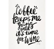 Coffee & Wine – Black Ink Photographic Print