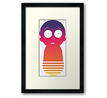 Retro Morty Framed Print