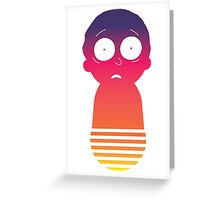 Retro Morty Greeting Card