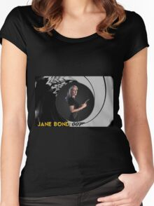 Gillian Anderson for Jane Bond Women's Fitted Scoop T-Shirt