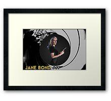 Gillian Anderson for Jane Bond Framed Print