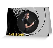 Gillian Anderson for Jane Bond Greeting Card