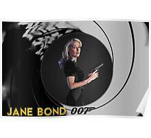 Gillian Anderson for Jane Bond Poster