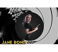 Gillian Anderson for Jane Bond Photographic Print
