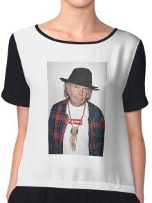 Supreme Neil Young Chiffon Top