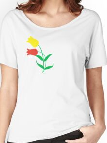Red and yellow tulips Women's Relaxed Fit T-Shirt