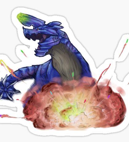 Birthday Explosion Brachydios Sticker