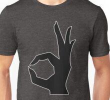 Rocket Bunny - White stroked Black Logo Unisex T-Shirt