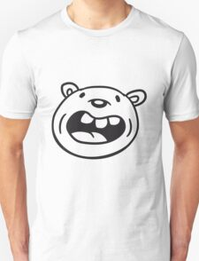 funny comic cartoon bear laughing big grin cuddle grizzly Unisex T-Shirt