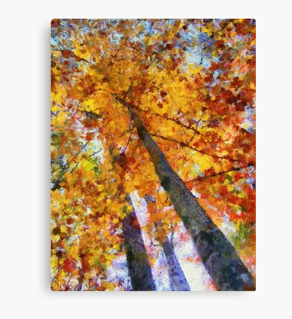 Autumn Trees In The Sky Canvas Print