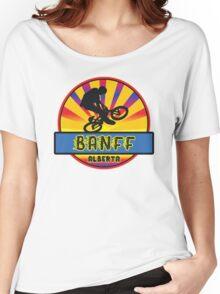 MOUNTAIN BIKE BANFF ALBERTA CANADA BIKING MOUNTAINS Women's Relaxed Fit T-Shirt