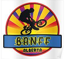 MOUNTAIN BIKE BANFF ALBERTA CANADA BIKING MOUNTAINS Poster