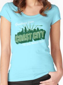 Greetings From Coast City Women's Fitted Scoop T-Shirt