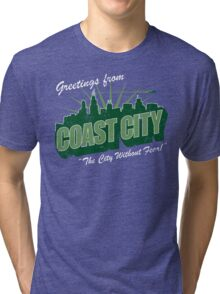 Greetings From Coast City Tri-blend T-Shirt