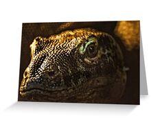 Scary Lizard Greeting Card