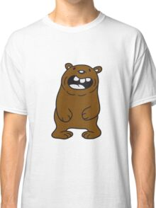 funny comic cartoon bear fat grin laughing dick big cuddle grizzly Classic T-Shirt