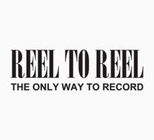 Reel To Reel(Black) Baby Tee