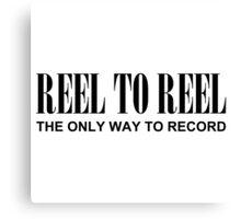 Reel To Reel(Black) Canvas Print