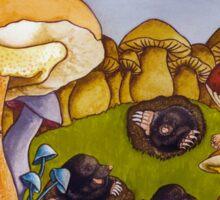 Party on mushroom hill Sticker