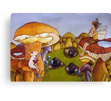 Party on mushroom hill Canvas Print