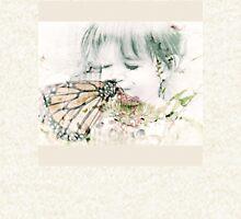 Butterfly Kisses- Beige Border Zipped Hoodie