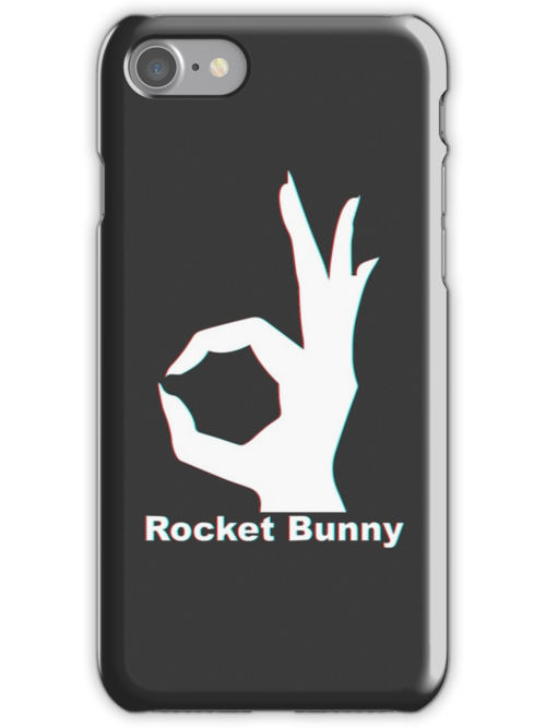 Quot Rocket Bunny 3d Logo Quot Iphone Cases Amp Skins By Djhh99