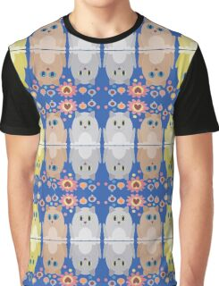 CATS, FLOWERS & BAUBLES Graphic T-Shirt