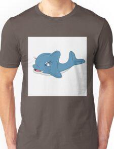Cheerful good-natured Dolphin. Unisex T-Shirt