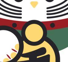 Round Lucky Cat Sticker