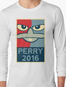 Perry the Platypus For President 2016 Long Sleeve T-Shirt