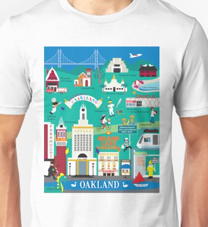 Oakland, California - Collage Illustration by Loose Petals Unisex T-Shirt