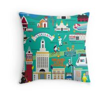 Oakland - Collage Illustration by Loose Petals Throw Pillow